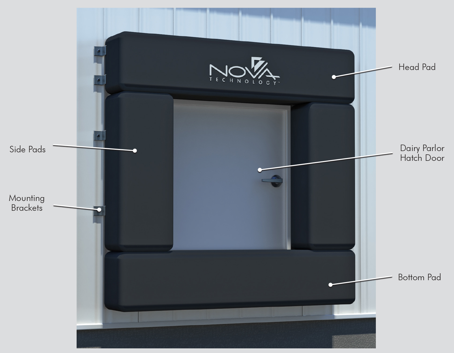 DESIGNED TO FIT ANY SIZE HATCH DOOR & Dairy Seal - Nova Technology